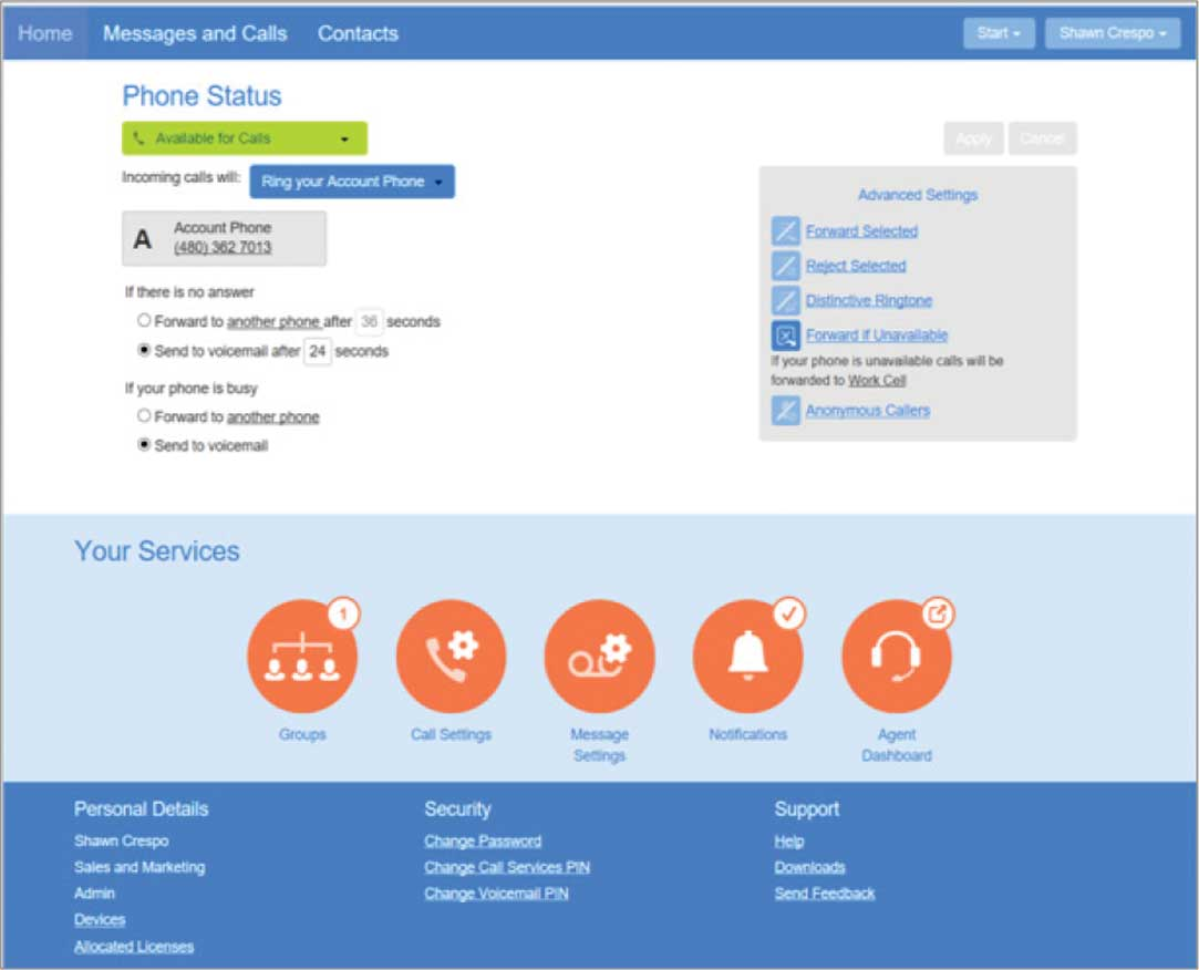 CIOVOIP MaX UC Comm Portal